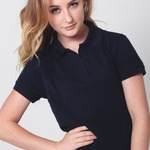 Womens Pique Knit Raven Polo