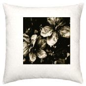 Silver Flowers Cushion Case - 100% Linen Cushion Cover 50x50