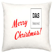 2015 Christmas Cushion Cover with back #Peace #Love and #Happiness