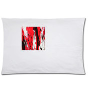 FRONT&BACK Pillow Case MUMMY&ME ARTWORK -RED,BLACK&WHITE  Collection