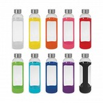 Premium Glass 600ml Water Bottle with silicone case