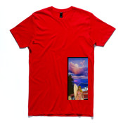 Slim Fashion Tee - Beach Surf Tee