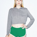 American Apparel Tri-Blend Cropped Hoody